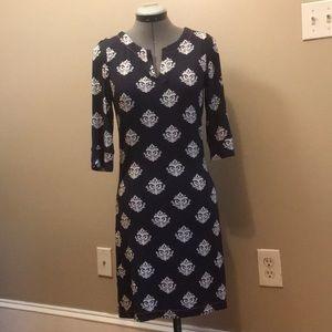 Hatley V Neck Dress W/ Pattern